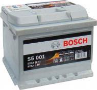Акумулятор автомобільний Bosch S5 001 52А 12 B 0 092 S50 010 «+» праворуч