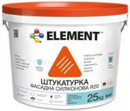 Декоративна штукатурка короїд Element R20 2 мм 25 кг білий