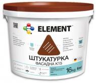 Декоративна штукатурка камінцева Element K15 1,5 мм 25 кг білий