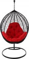 Крісло-кокон Глорія з подушкою чорне
