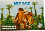 Альбом для малювання 12 аркушів 100г/м2 на скобі Ice Age Cool For School