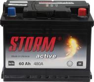 Акумулятор автомобільний STORM 6СТ-60Ah Євро 60А 12 B «+» праворуч