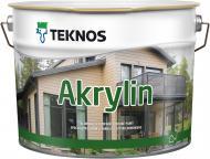 Фарба фасадна акрилатна TEKNOS Akrylin база 1 напівмат білий 9л