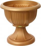 Вазон пластиковий Алеана Леон круглий 29л (114001) бронзовий