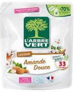 Засіб для машинного та ручного прання L'Arbre Vert Солодкий мигдаль (запасний блок) 1,5 л