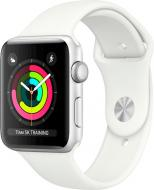 Смарт-часы Apple Watch Series 3 GPS 38 мм silver Aluminium Case with White Sport Band (MTEY2FS/A)
