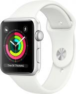 Смарт-часы Apple Watch Series 3 GPS 42 мм silver Aluminium Case with White Sport Band (MTF22FS/A)
