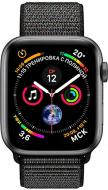 Смарт-годинник Apple Series4 space grey Aluminium Case with Black Sport Loop(MU672UA/A)