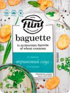 "Сухарики Flint пшеничні ""Вершковий соус з зеленю"" 110 г (Baguette)"