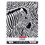 Блокнот А4 80 аркушів клітинка Animal Print Zebra 50036585Z Herlitz