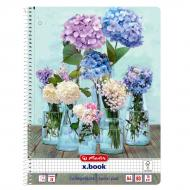 Блокнот А4 80 аркушів клітинка Come on Summer Flowers 50036196F Herlitz