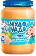 Пюре Jaffa Чудо-Чадо Яблоко-персик с творогом