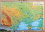 Карта України фізична М 1:2 400 000 Інститут передових технологій