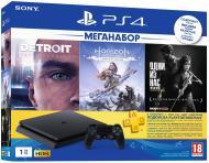 Ігрова консоль Sony PlayStation 4 Slim 1Tb в комплекті з 3 іграми і підпискою PS Plus 9926009 black
