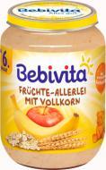 Пюре Bebivita ФРУКТОВО-ЗЕРНОВЕ ПЮРЕ BEBIVITA фруктове АССОРТІ з злаків, 190 Г, ВІД 6 МІСЯЦІВ