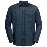 Рубашка Jack Wolfskin ISLAND PEAK SHIRT M 1403311-7881 р. 50-52 синий