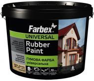 Фарба гумова Farbex Універсальна мат графіт 12кг
