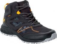 Ботинки Jack Wolfskin WOODLAND TEXAPORE MID K 4042151-6055 р. EUR 32 черныйжелтый