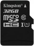 Карта пам'яті Kingston miсroSDHC 32 ГБ UHS Speed Class 1 (U1)Class 10 (SDC10G2/32GBSP)