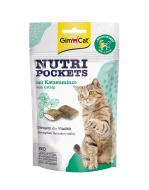 Вітаміни GimCat Nutri Pockets with Catnip & Multi-Vitamin, з котячою м'ятою, 60г.