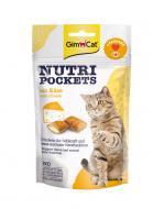 Вітаміни GimCat Nutri Pockets with Cheese & Taurine з сиром та таурином, 60г.