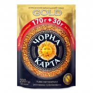 Кава розчинна Чорна Карта Gold 200 г