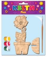 Розмальовка Зірка дерев'яна Мак 101302
