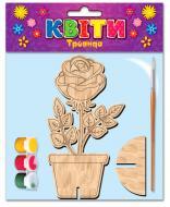 Розмальовка Зірка дерев'яна Троянда 101301