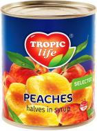 Персики Tropic Life половинками у сиропі 425 мл 496 г