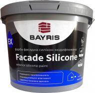 Фарба фасадна силікономодифікована Bayris FACADE SILICONE База С мат білий 4кг