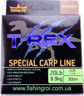 Волосінь Fishing ROI T-Rex Special Carp Line Brown 300м 0.3мм 8.90кг 49-00-030