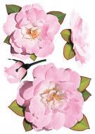 Декоративна наліпка  Рози рожеві