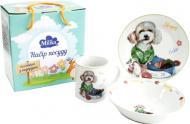 Набір дитячого посуду Happy 3 предмети M0690-TH5778 Milika