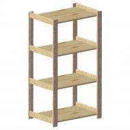 Стелаж дерев'яний WoodMood Shieldes 4 полиці 1144x640x420 мм сосна (STP 040465)