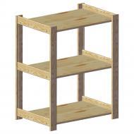 Стелаж дерев'яний WoodMood Shieldes 3 полиці 792x640x420 мм сосна (STP 030465)