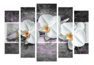 Картина модульная Цветы 454 118x80 см