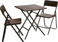 Комплект мебели раскладной коричневый SAK-62+YC-043