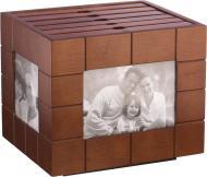 Фотоальбом дерев'яний на 144 фотографії 20х13х17 см WY08081