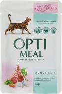 Корм Optimeal з ягням і овочами в желе 85 г