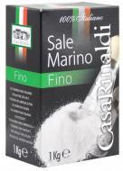 Сіль морська дрібна 100% Italiano 1000 г Casa Rinaldi