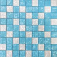 Плитка Vivacer Мозаика Mix Blue 30x30