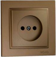 Розетка без заземления Mono Despina без шторок без крышки бронзовый 102-232322-116