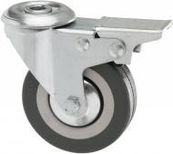 Колесо поворотне з отвором і гальмом d75 мм 3057-75