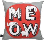 Подушка декоративна 2251952505015 41x41 см червоний із сірим Simon's Cat