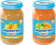 Пюре Малятко фруктове з ложкой (2 шт.) 180 г