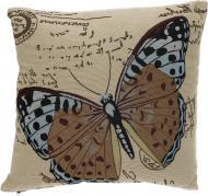 Подушка декоративна Метелик 45x45 см бежевий Ningbo Royal Union