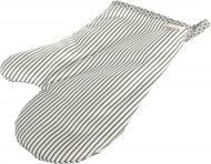 Прихватка-рукавиця Грета смужки 30x15 см сірий La Nuit