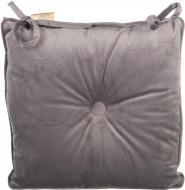 Подушка на стілець Велюр 40x40 см сірий La Nuit