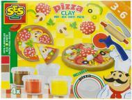 Набір для ліплення SES Піца незасихаюча 4 кольори в пластикових баночках аксесуари 0445S