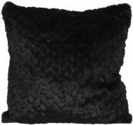 Подушка декоративна Leaf 45x45 см чорний La Nuit
